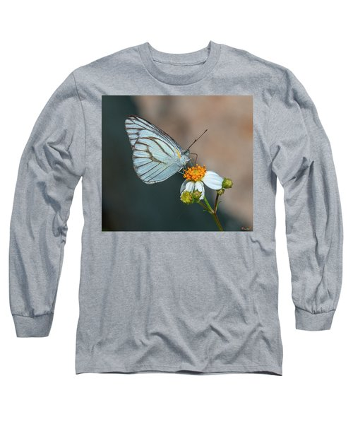 Striped Albatross Butterfly Dthn0209 Long Sleeve T-Shirt
