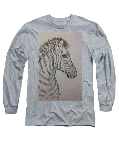 Long Sleeve T-Shirt featuring the drawing Striped Stud by Jennifer Hotai