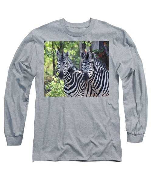Stripes And Ovals Long Sleeve T-Shirt by Bruce W Krucke