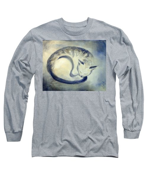 Stripey Cat 3 Long Sleeve T-Shirt by Dina Dargo