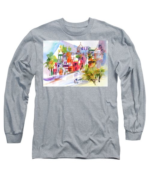 Stroll In Montreal Long Sleeve T-Shirt by Betty M M Wong