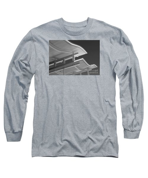 Structure Abstract 6 Long Sleeve T-Shirt by Cheryl Del Toro