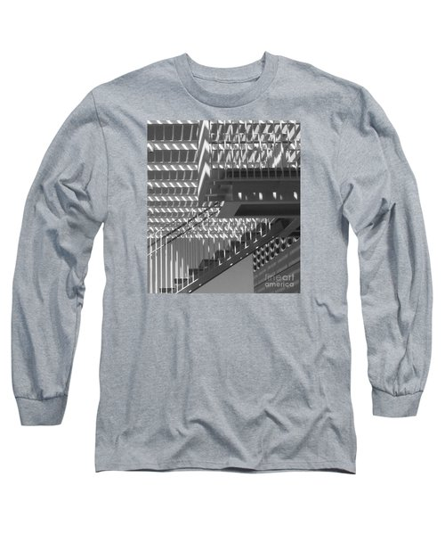 Long Sleeve T-Shirt featuring the photograph Structure Abstract 8 by Cheryl Del Toro