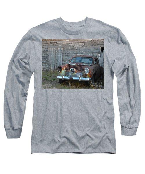 Studebaker Sitting Long Sleeve T-Shirt