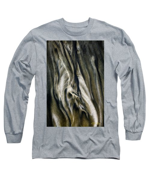 Long Sleeve T-Shirt featuring the photograph Study In Brown Abstract Sands by Rikk Flohr