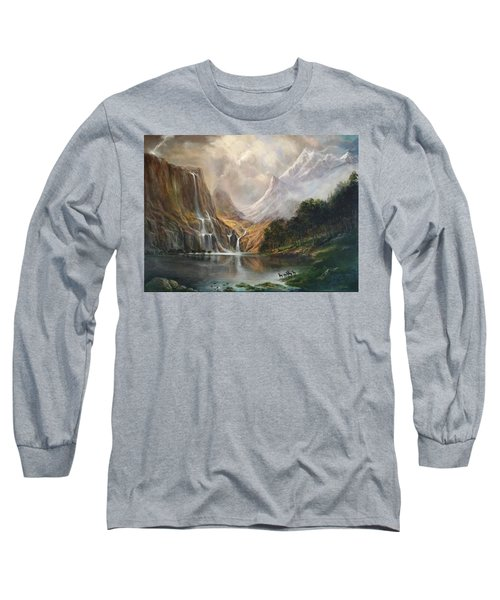 Long Sleeve T-Shirt featuring the painting Study In Nature by Donna Tucker