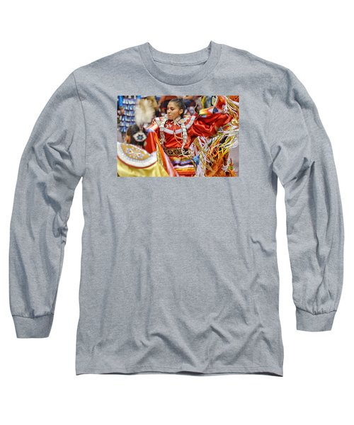 Studying Keya Clairmont 2 Long Sleeve T-Shirt by Clarice Lakota