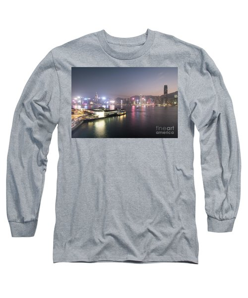 Stunning View Of The Twilight Over The Victoria Harbor And Star  Long Sleeve T-Shirt