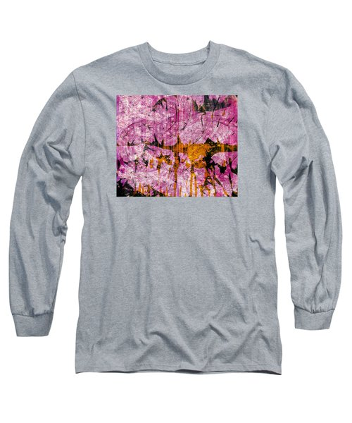 Long Sleeve T-Shirt featuring the mixed media Submit A Dance   by Fania Simon