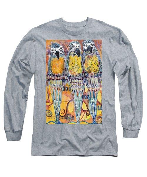Subtle Harmony Long Sleeve T-Shirt by Leela Payne