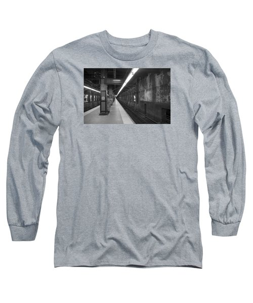 Subway At Grand Central Long Sleeve T-Shirt by Allen Carroll