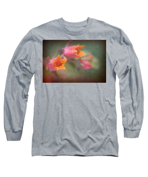 Succulent Flower Long Sleeve T-Shirt by Catherine Lau