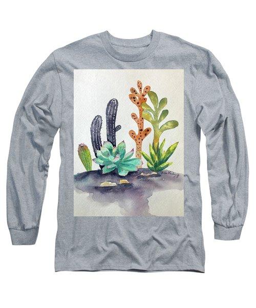 Succulents Desert Long Sleeve T-Shirt
