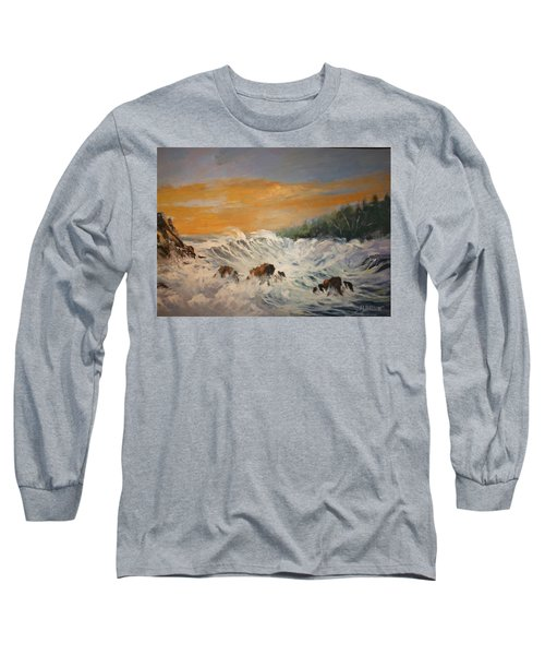 Sudden Turbulence At Suset Long Sleeve T-Shirt