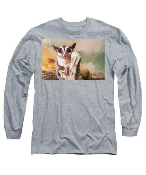 Sugar Glider - Painterly Long Sleeve T-Shirt