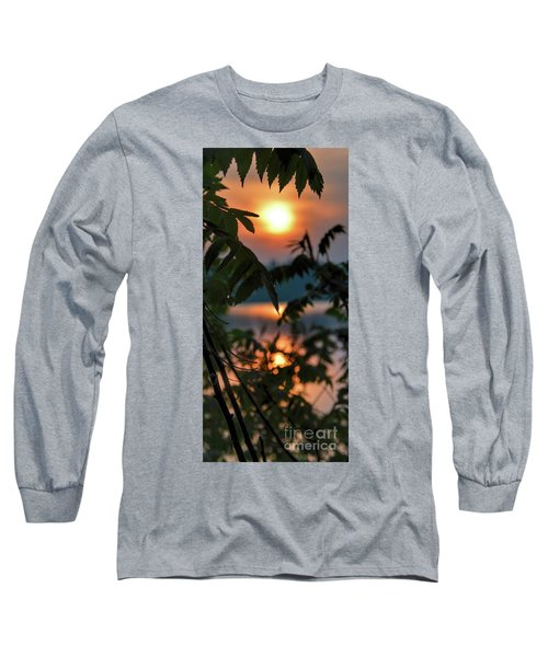 Long Sleeve T-Shirt featuring the photograph Sumac Sunrise At The Lake by Henry Kowalski
