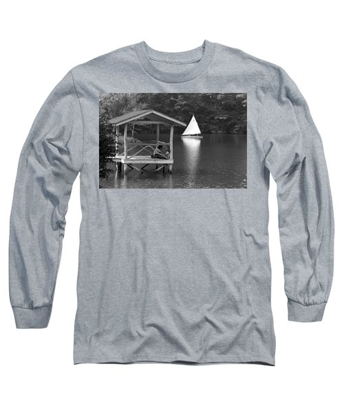 Summer Camp Black And White 1 Long Sleeve T-Shirt by Michael Fryd