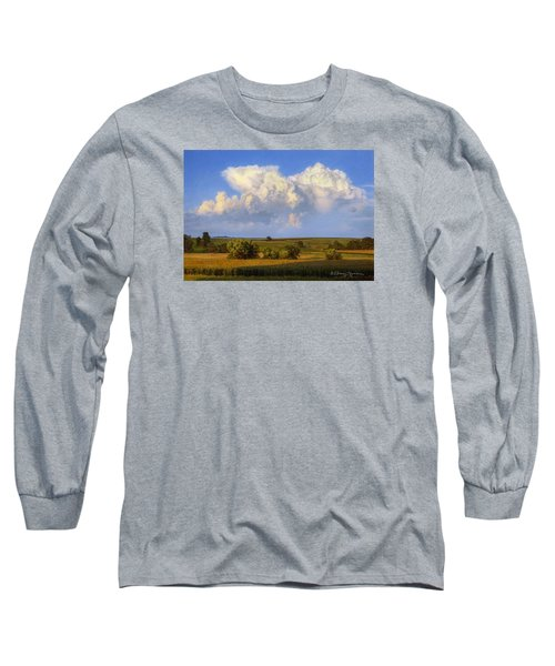 Summer Evening Formations Long Sleeve T-Shirt by Bruce Morrison