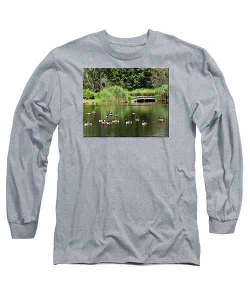 Summer Fun Long Sleeve T-Shirt by Mikki Cucuzzo