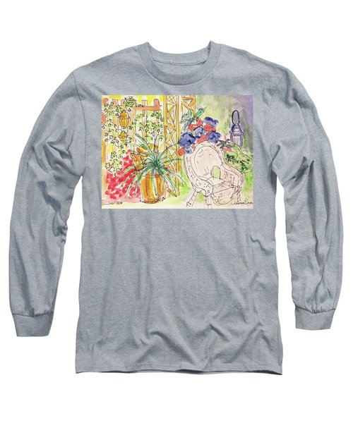 Summer Garden Long Sleeve T-Shirt by Barbara Anna Knauf