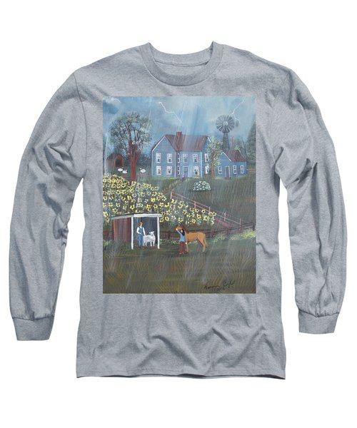 Summer Rain Long Sleeve T-Shirt by Virginia Coyle