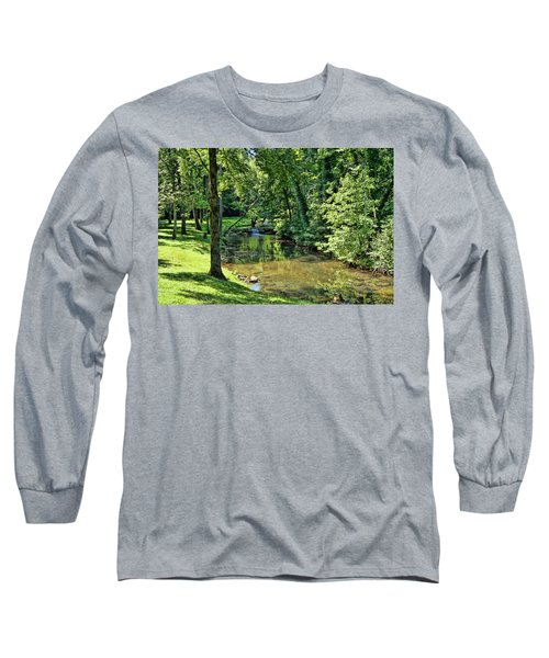Long Sleeve T-Shirt featuring the photograph Summer Stream by Cricket Hackmann
