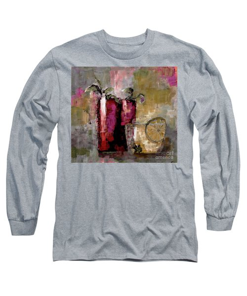 Summer Sunday Sangria With Lemon Water Infusion Painting Long Sleeve T-Shirt