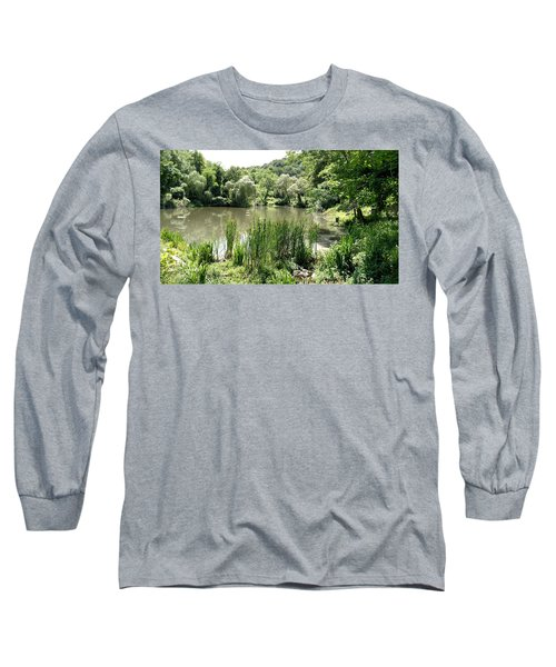 Long Sleeve T-Shirt featuring the painting Summer Swamp by James Guentner