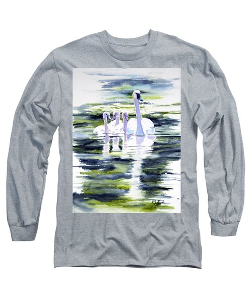 Summer Swans Long Sleeve T-Shirt