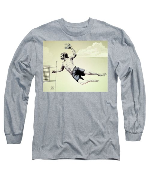 Summer Time Volley Ball Long Sleeve T-Shirt by Cheryl Poland