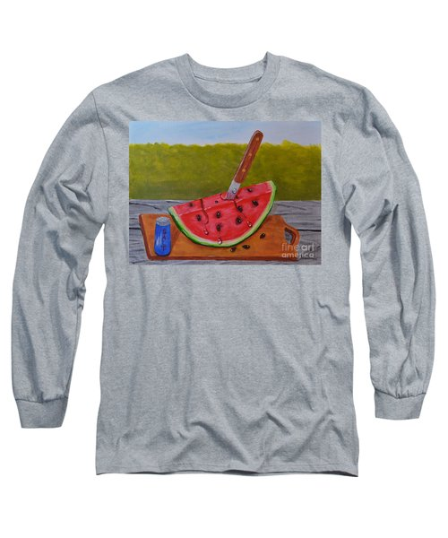 Long Sleeve T-Shirt featuring the painting Summer Treat by Melvin Turner