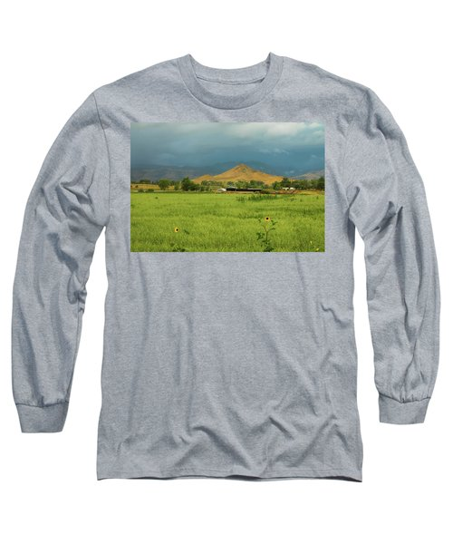Long Sleeve T-Shirt featuring the photograph Summer View Of  Hay Stack Mountain by James BO Insogna
