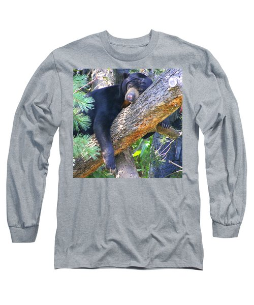 Sun  Bear - Afternoon Nap Long Sleeve T-Shirt by Laurel Talabere