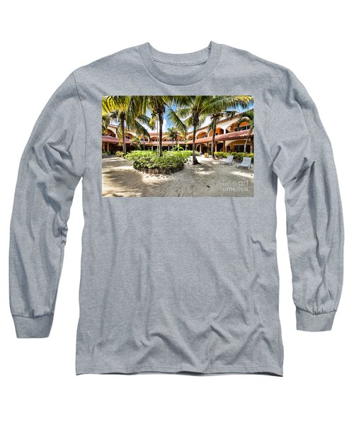 Long Sleeve T-Shirt featuring the photograph Sun Breeze Hotel by Lawrence Burry