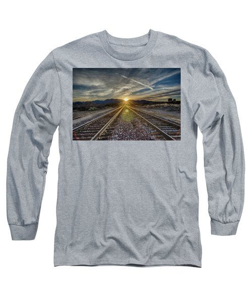 Sun Sets At The End Of The Line Long Sleeve T-Shirt