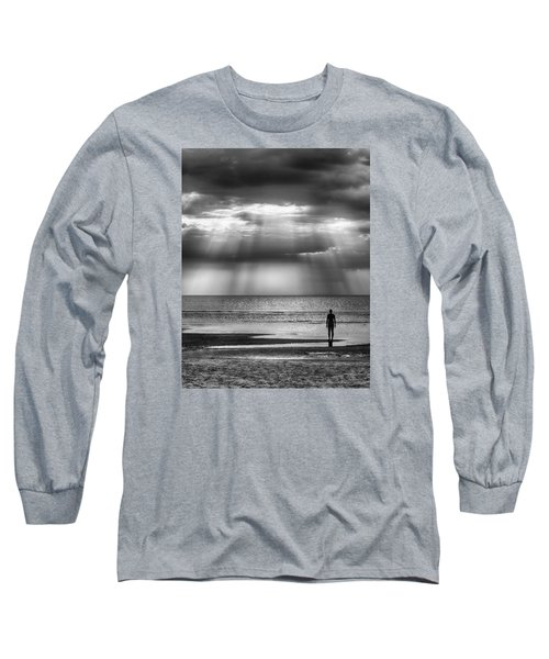 Sun Through The Clouds Bw 11x14 Long Sleeve T-Shirt