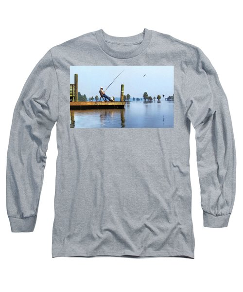 Sunday Fisherman Long Sleeve T-Shirt by Deborah Smith