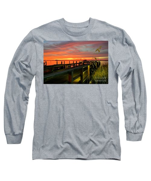 Long Sleeve T-Shirt featuring the photograph Sundown by Elfriede Fulda