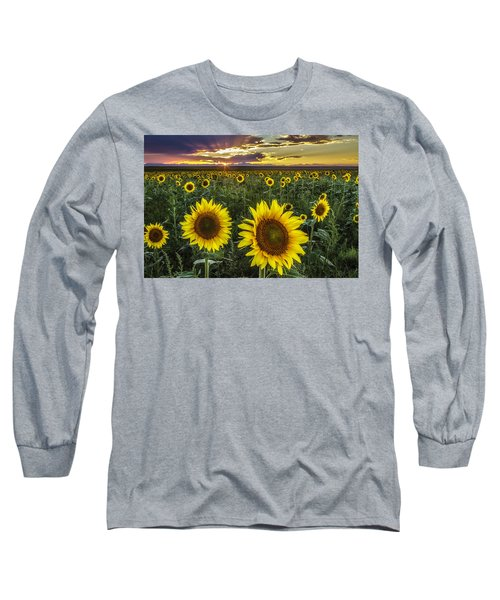 Sunflower Sunset Long Sleeve T-Shirt