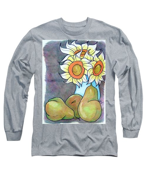 Sunflowers And Pears Long Sleeve T-Shirt