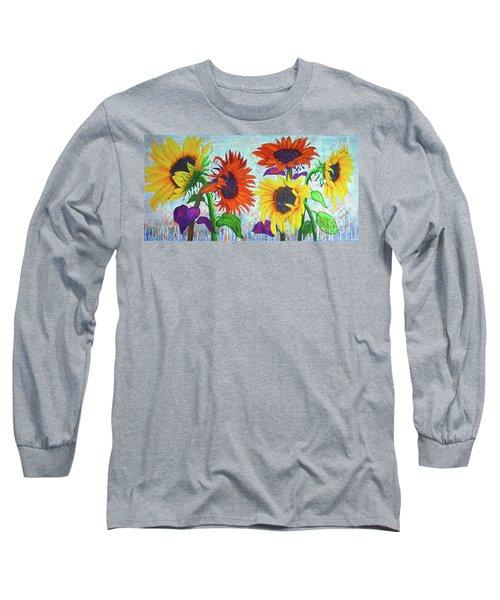 Sunflowers For Elise Long Sleeve T-Shirt