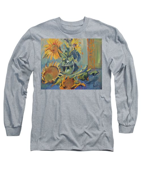 Sunflowers Fresh And Dried With Vase Long Sleeve T-Shirt