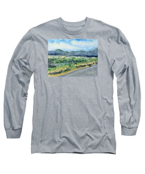 Sunflowers On The Way To The Great Sand Dunes Long Sleeve T-Shirt by Holly Carmichael