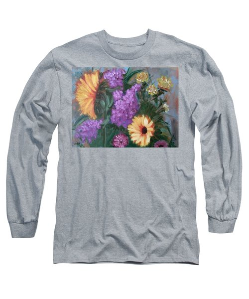 Sunflowers Long Sleeve T-Shirt by Sharon Schultz