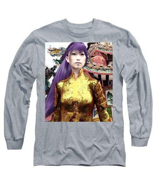 Sunkara In Lavender Long Sleeve T-Shirt