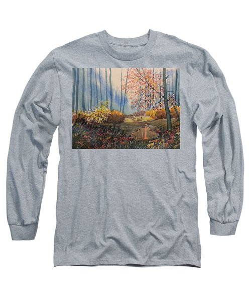 Sunlight And Sheep In Sledmere Woods Long Sleeve T-Shirt