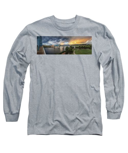 Sunlight And Showers Over Chattanooga Long Sleeve T-Shirt by Steven Llorca