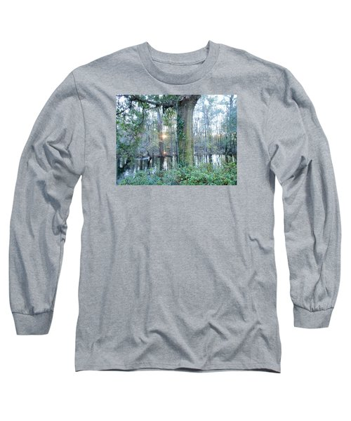 Sunlight On The Edisto River Long Sleeve T-Shirt by Kay Gilley