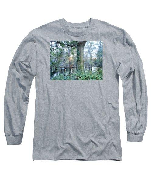 Sunlight On The Edisto River Long Sleeve T-Shirt