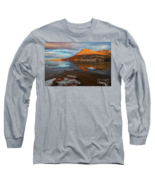 Sunlight On The Flatirons Reservoir Long Sleeve T-Shirt by Ronda Kimbrow